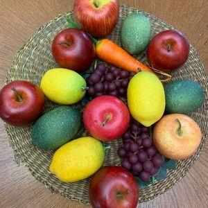 Decorative Fruit Apples Limes Lemons Grapes Carrot